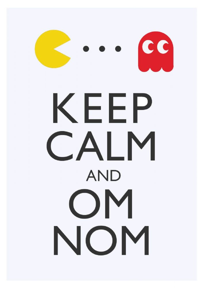 keep-calm-om-nom-pacman-choose-your-size-stretched-canvas-or-print-new-35437-p[ekm]713x1000[ekm]